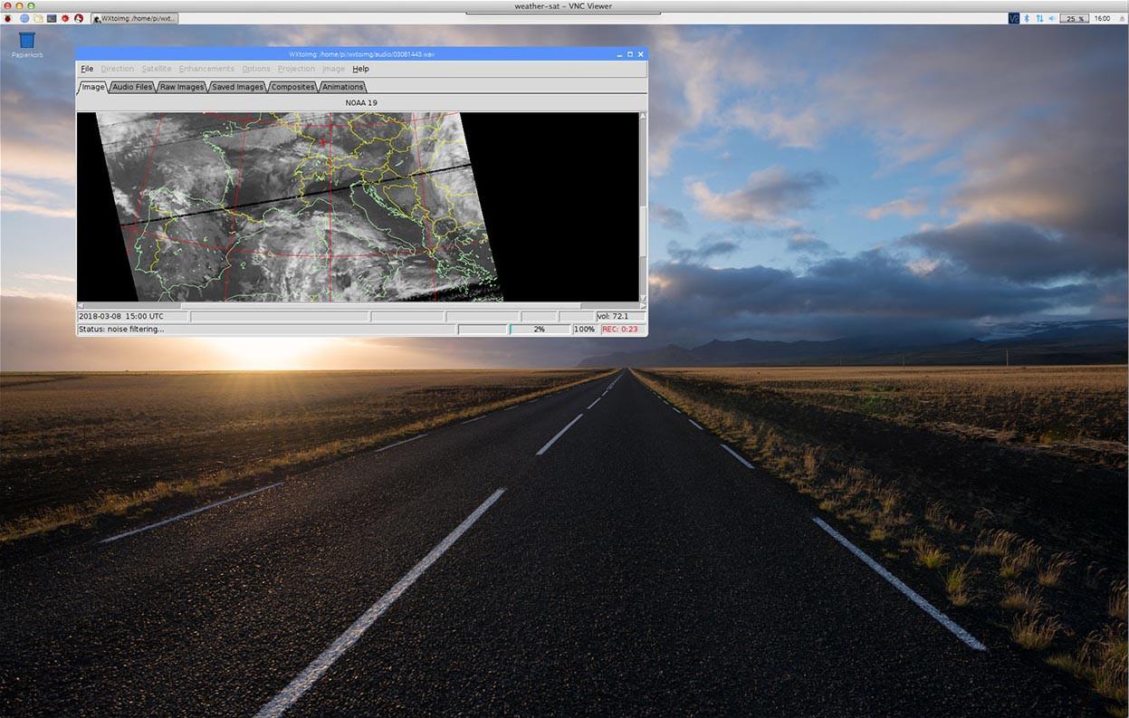 Weather FAX – WxToImg – SAT Bilder – Raspberry PI 3