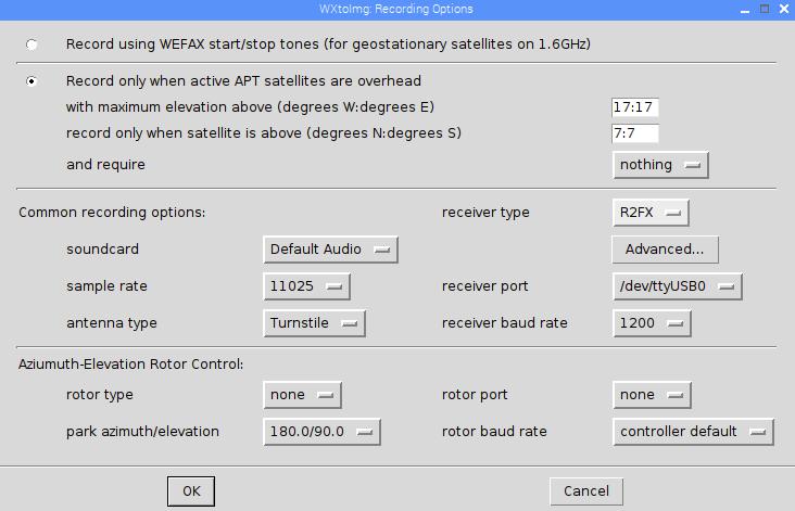 Weather FAX – WxToImg – SAT Bilder – Raspberry PI 3 – Wetterdaten